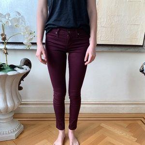 NWOT Carmar Skinny Maroon Jeans